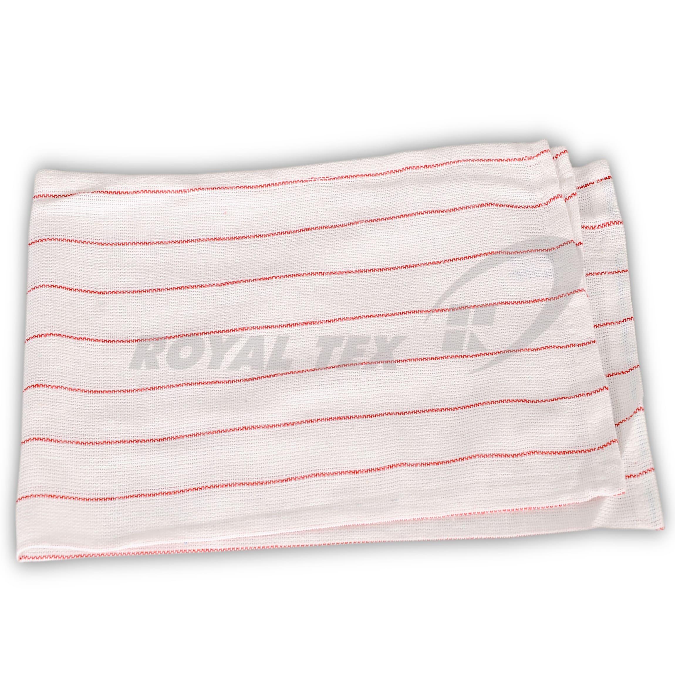 TT-305  :  Pink stripped Lintless Glass cloth.